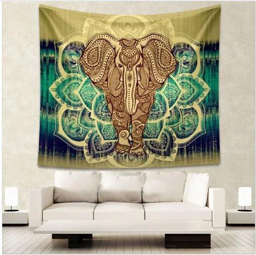 Tenture Murale Éléphant Protecteur
