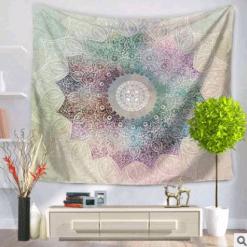 Tenture pour Mur Mandala Multicolore