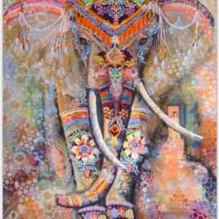 Tenture Indienne Éléphant Sacré