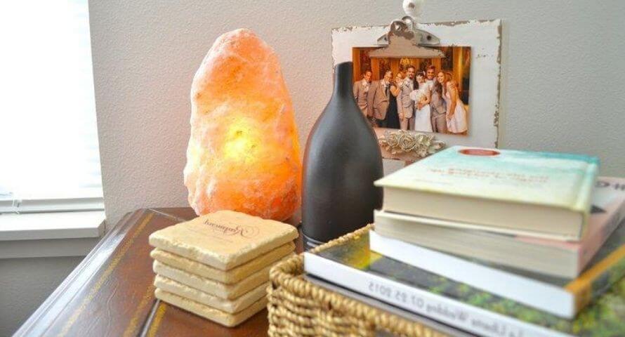 lampe en cristal de pierre