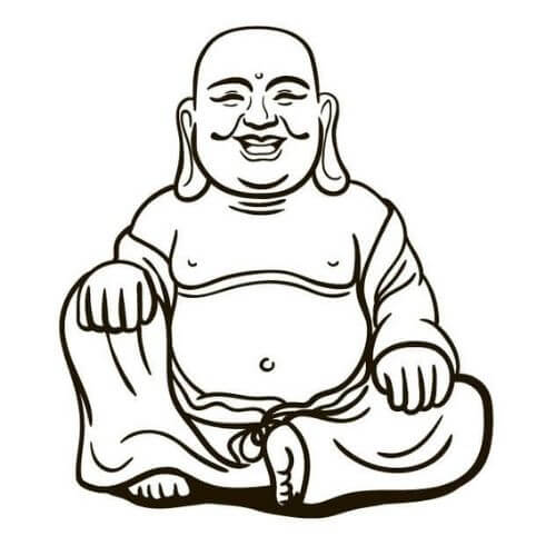 Bouddha souriant - Bouddha heureux - Bouddha porte Bonheur