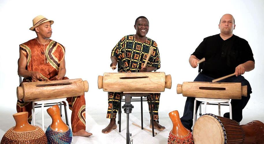 Tongue drum bois africain