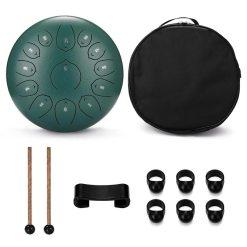 Tongue Drum 12 pouces vert - Sept Chakras