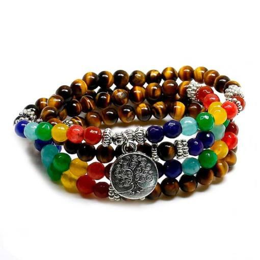 Bracelet Bouddhiste Mala - Mala Tibétain - Sept Chakras
