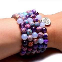 Bracelet Mala Femme - Mala Tibétain - Sept Chakras