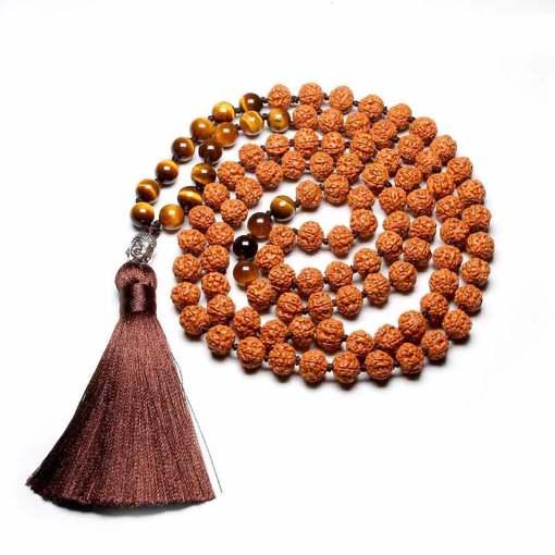 Mala Tibétain Graines de Rudraksha - Mala Tibétain - Sept Chakras