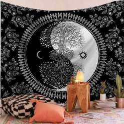 Mandala Tenture murale - Décoration zen - sept chakras