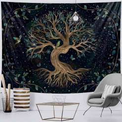 Tenture murale arbre de vie - Décoration zen - sept chakras