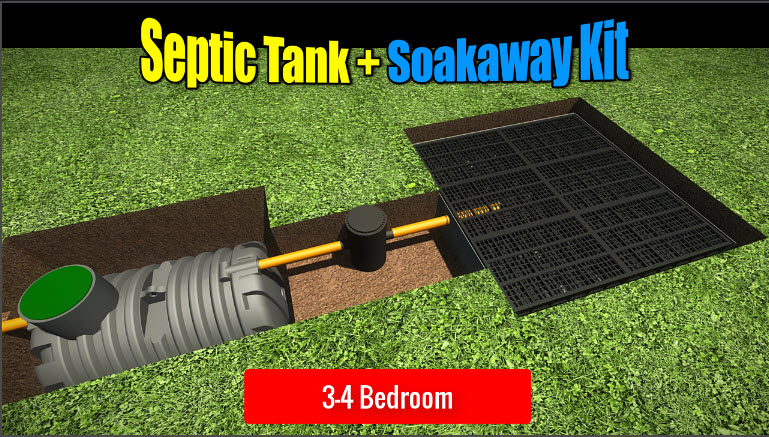 Septic Tank Soakaway 3-4 Bedroom
