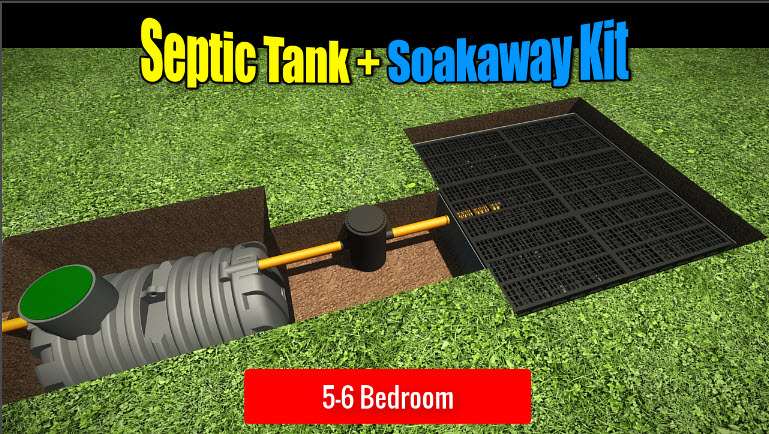 Septic Tank Soakaway 5-6 Bedroom
