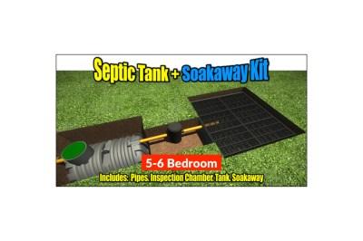Septic Tank Soakaway Kit 5-6 Bedroom