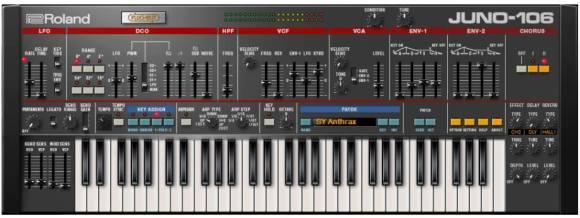 Roland Softsynths - System 8 / Juno 106 / Jupiter 8, but