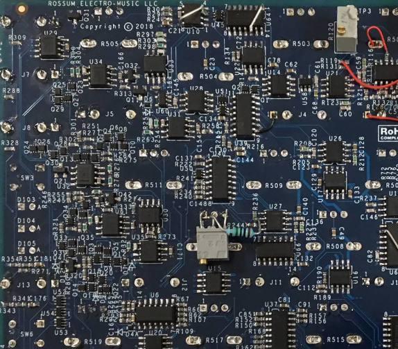 Rossum Electro Prototyp Eurorack Rückseite