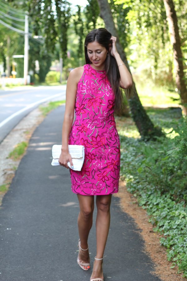 Pink Beaded dress for a bridal shower