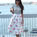 Flamingo Skirt +Tips for Summer Entertaining