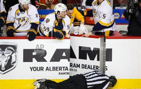 NHL Player Suspended for Checking Linesman
