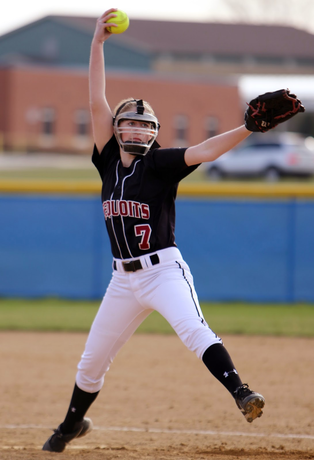Hannah Cook pitches a ball in a game against Warren Township High school back in April of 2015.