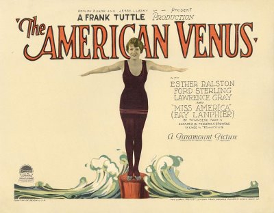 "Lobby card for ""The American Venus."""