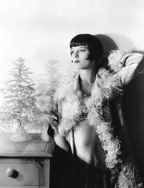 Even Louise Brooks, a confirmed atheist, cooperated with Hollywood's Christmas spirit.
