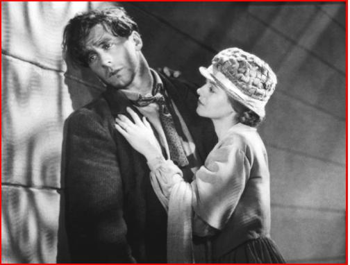 """George O'Brien and Janet Gaynor in """"Sunrise"""" ('27) considered one of the greatest silent films ever made."""