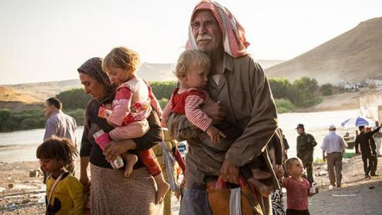 Here are Yazidi Christians, true refugees. Europe should be offering haven to these people who are true victims of Islamist imperialism.