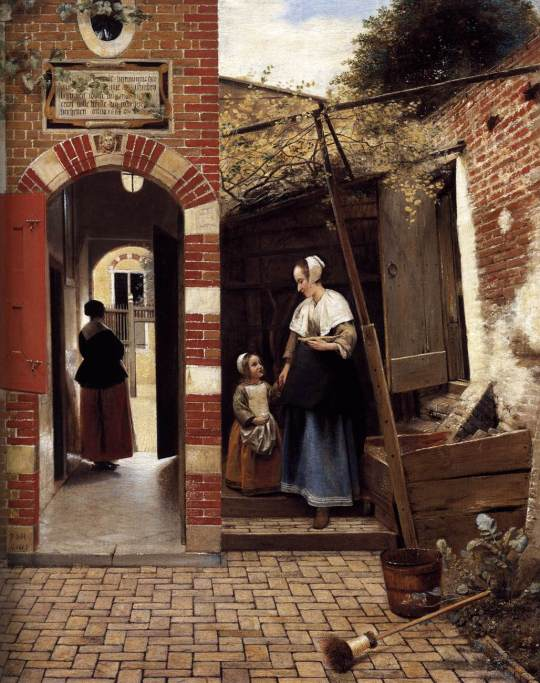 Pieter de Hooch, The Courtyard of a House in Delft, 1658 Oil on canvas, 73 x 60 cm