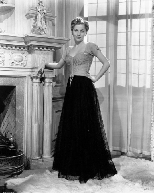 """""""I can't believe I was ever that thin."""" —Joan Fontaine's comment on just having seen herself in Rebecca, fifty years after she had starred with Laurence Olivier in the Hitchcock film."""