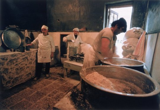 Nodar Djindjihashvili, American, b. Russia, 1939-2002 Baking of Mazzot, Tbilisi, 1978-80 Chromogenic color print 16 × 20 in. (40.6 × 50.8 cm)