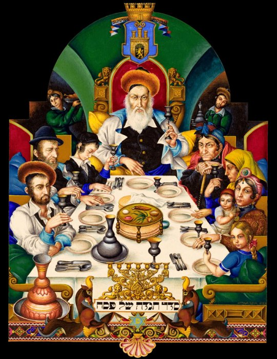 The Szyk Haggadah, Łódź, 1935, Arthur Szyk was the greatest Jewish illuminator since, well, ever.
