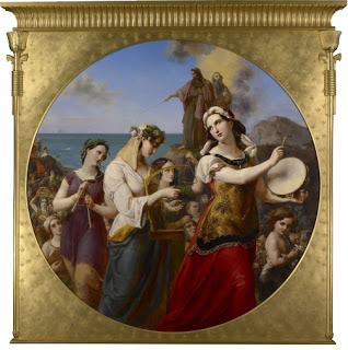 Miriam's Song of Praise, Wilhelm Hensel (1794-1861), 1836, Presented to Queen Victoria in 1843