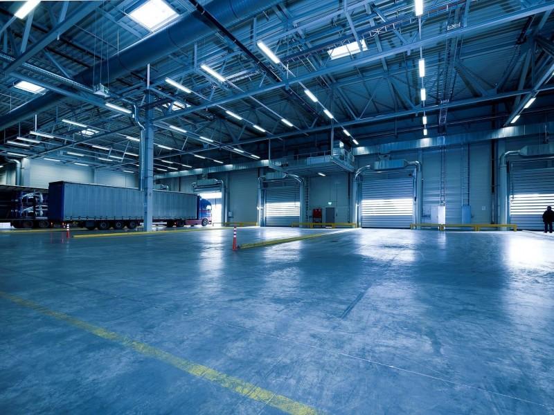 warehouse lighting layout led light
