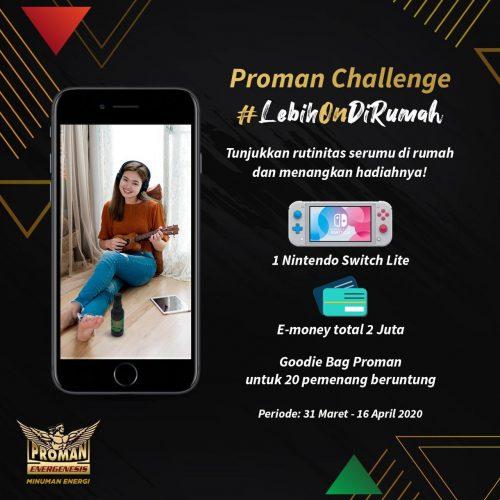 Proman Challenge Lebih On Di Rumah Berhadiah Nintendo Switch Lite