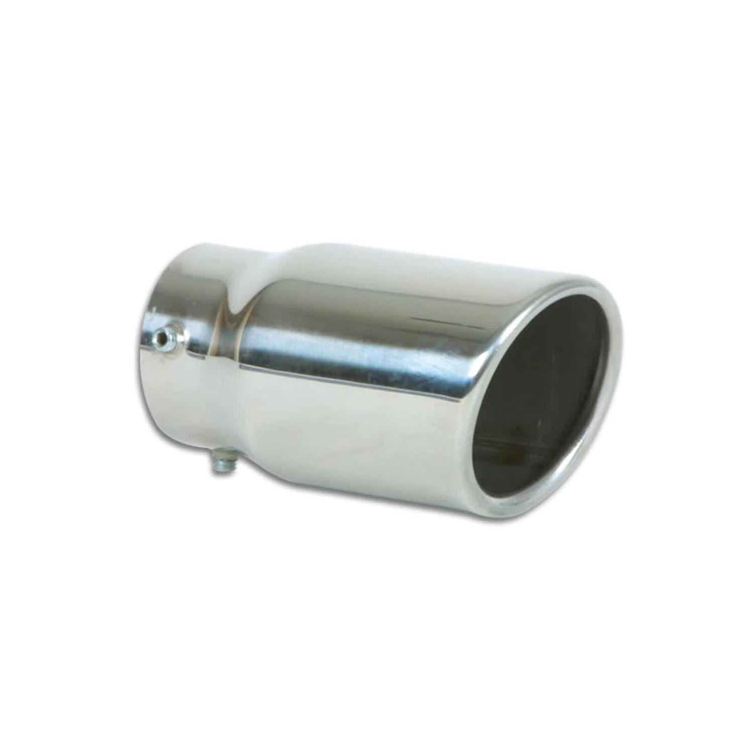 1503 vibrant performance bolt on exhaust tips 3 round stainless steel bolt on tip single wall angle cut