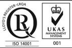 ISO14001 with UKAS Sercrisa