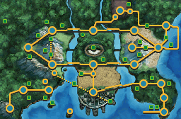 Serebii net Pok    arth Below is the map for access to the areas of the Unova   Kalos regions