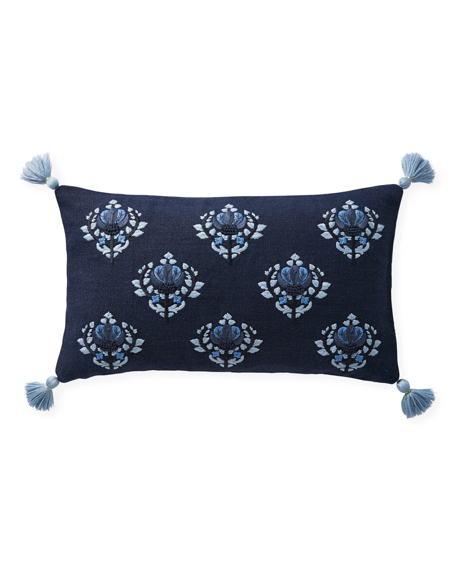 Sofa Pillows Covers   Living Room Pillows   Serena   Lily Kemp Pillow Cover  Navy