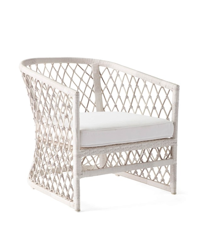 capistrano outdoor lounge chair - driftwood - serena & lily