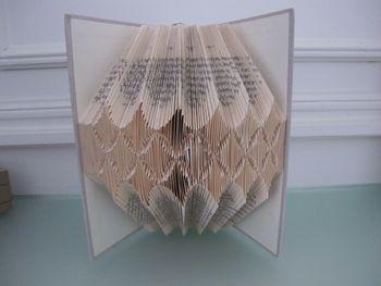 Livre plié par Brigitte Grisel