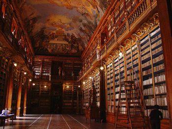 Bibliothèque du monastère de Strahov, salle philosophique, crédit Wikipédia