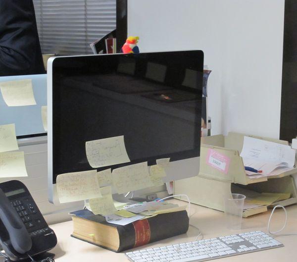 Mac sur reliure