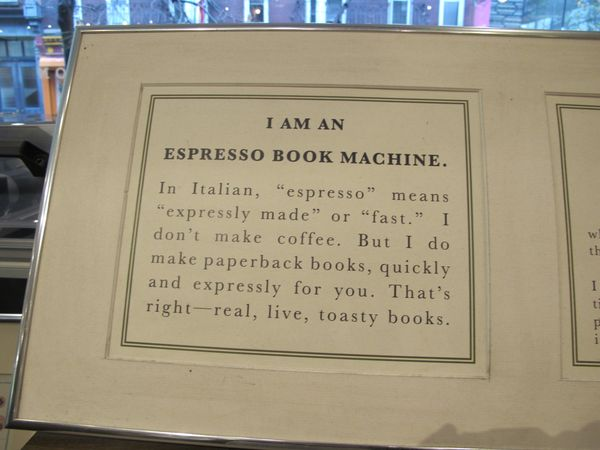 Espresso Book Machine