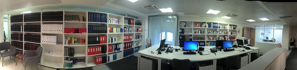 Panorama de bibliothèque