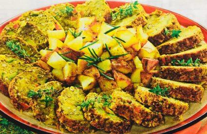 Secondi di verdure con lenticchie, un piatto vegetariano
