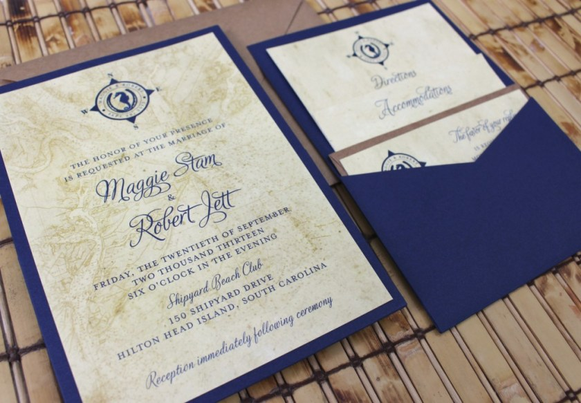 Vine Wedding Invitation Nautical