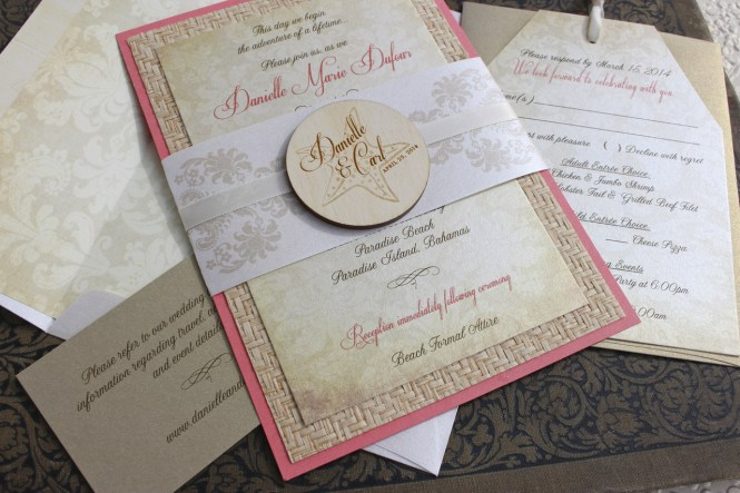 Gorgeous Wedding Stationery Beach Invitations Plumegiant
