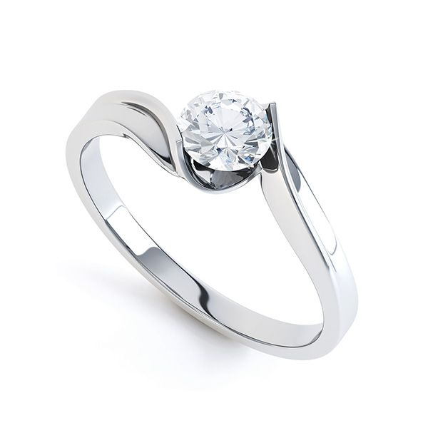 Unity Diamond Engagement Ring Featuring An Open Tension