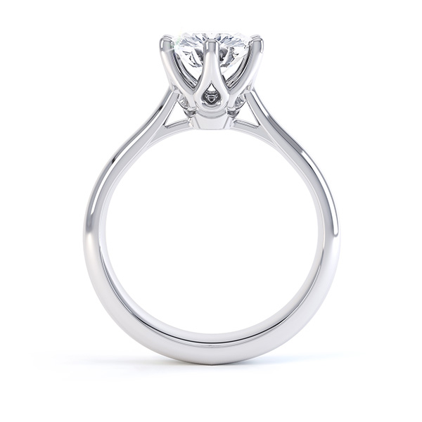 Tiffany Inspired Six Claw Engagement Ring
