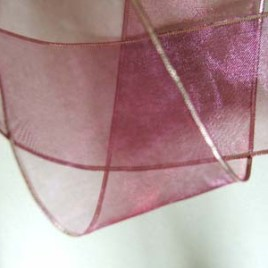 Wine / Burgundy Organza