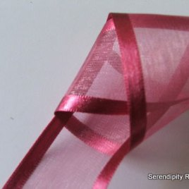 Lobster Organza with satin edge
