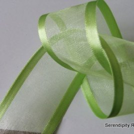Apple Green Organza with satin edge